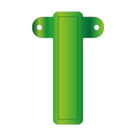 Banner letter I lime groen