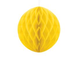 Honeycomb bal party geel ø 30 cm.