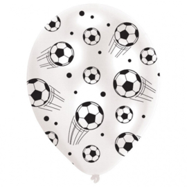 Voetbal ballonnen ø 27,5 cm. 6 st.