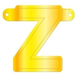 Banner letter Z geel