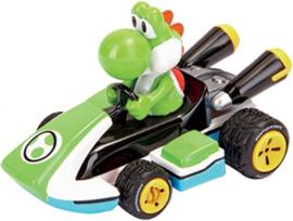Super Mario Bros Yoshi taart topper race auto 5 cm.