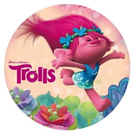Trolls taart en cupcake decoratie