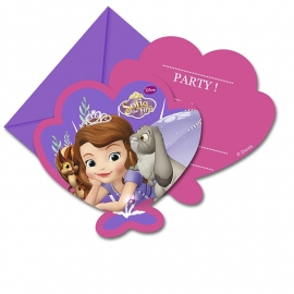 Disney Sofia the First Pearl of the Sea uitnodigingen 6 st.