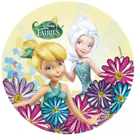 Disney Tinkerbell en Periwinkle ouwel taart decoratie ø 21 cm.