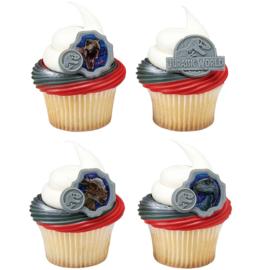 Jurassic World cupcake ring 8 st.