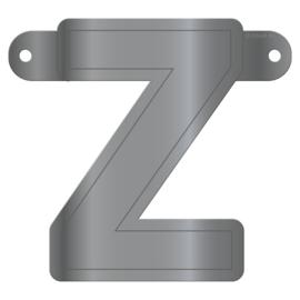 Banner letter Z metallic zilver