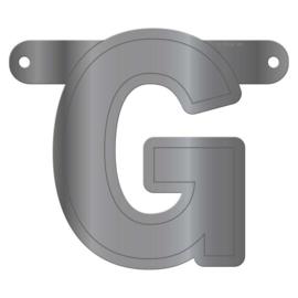 Banner letter G metallic zilver