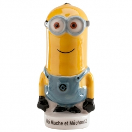 Minions taart topper decoratie Kevin 7 cm.