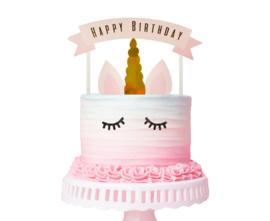 Eenhoorn taart decoratie set