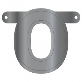 Banner letter O metallic zilver