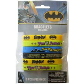 Batman uitdeel armbandjes 6 st.
