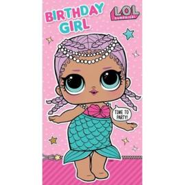 LOL Surprise verjaardagskaart birthday girl