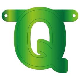Banner letter Q lime groen
