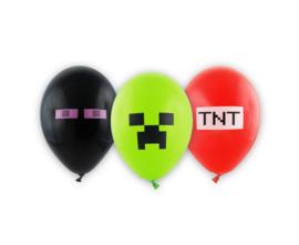 Minecraft ballonnen ø 28 cm. 6 st.