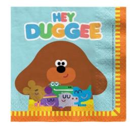 Hey Duggee servetten 33 x 33 cm. 16 st.