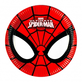 Ultimate Spiderman Power gebakbordjes ø 19,5 cm. 8 st.