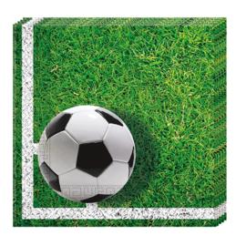 Voetbal servetten 33 x 33 cm. 20 st.