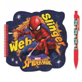 Spiderman notitieboekje met pen