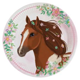 Paarden bordjes Beautiful Horses ø 23 cm. 8 st.