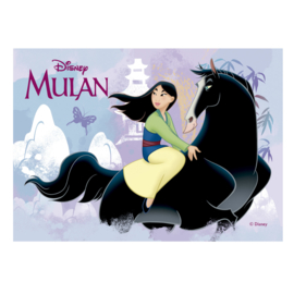 Disney Mulan ouwel taart decoratie 14,8 x 21 cm.