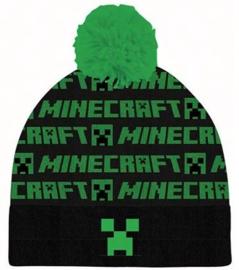 Minecraft muts met pompon mt. 52