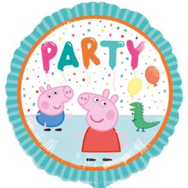 Peppa Pig folieballon party ø 43 cm.