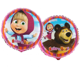 Masha and the Bear folieballon ø 45 cm.