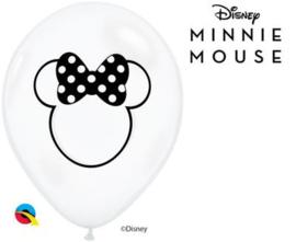 Disney Minnie Mouse ballonnen transparant ø 28 cm. 6 st.