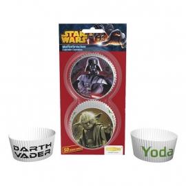 Star Wars cupcake vormpjes wit 50 st.