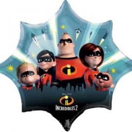 Disney The Incredibles 2 folieballon XL 88 x 73 cm.