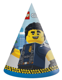 Lego City Politie feesthoedjes 6 st.