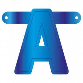Banner letter A blauw