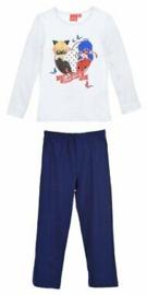 Ladybug pyjama wit-blauw mt. 104
