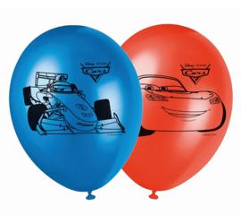 Disney Cars ballonnen blauw en rood ø 28 cm. 8 st.