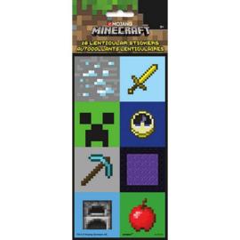 Minecraft stickers lenticulair