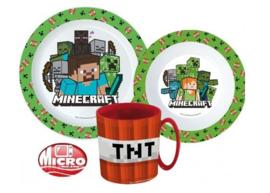 Minecraft 3-delige kinderservies set C