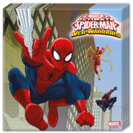 Spiderman Web-Warriors servetten 33 x 33 cm. 20 st.
