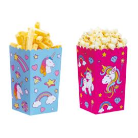Eenhoorn popcorn bakjes 6 st.