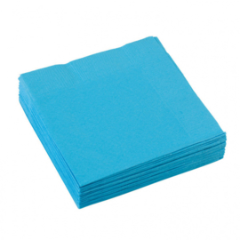 Turquoise servetten 25 x 25 cm. 20 st.