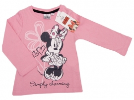 Disney Minnie Mouse Simply Charming longsleeve roze mt. 128