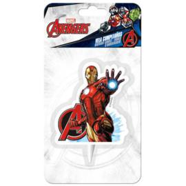 Avengers Assemble Iron Man 2D taart kaars
