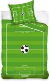 Voetbal dekbedovertrek 140 x 200 cm.