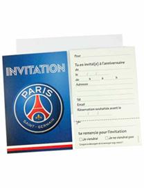 Paris Saint-Germain uitnodigingen franstalig 6 st.