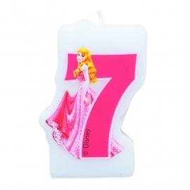 Disney Princess Doornroosje 7e verjaardagskaars