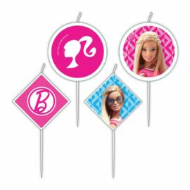 Barbie mini taart kaarsjes 4 st.