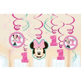 Disney Minnie Mouse 1e verjaardag draaislingers