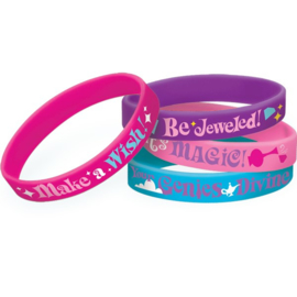 Shimmer and Shine rubberen uitdeel armbandjes 6 st.