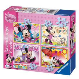 Disney Minnie Mouse puzzel 4in1 (12-16-20-24 stukjes)