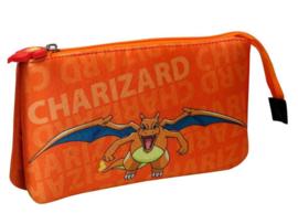 Pokémon etui Charizard 22 x 12 x 5 cm.