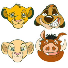 Disney The Lion King maskers 8 st.